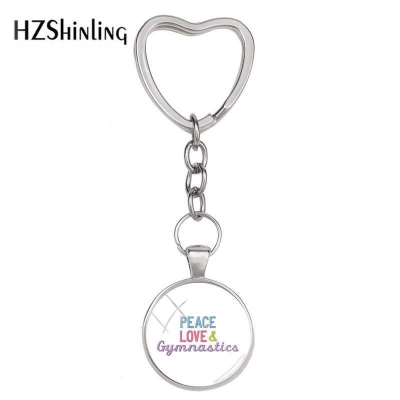 Love Heart Keychain /& Keyring