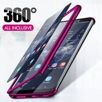 Luxe Shockproof Volledige Cover Cases Voor Samsung Galaxy S7 Rand S9 S8 S10 Plus S10E Case Hard Telefoon Behuizing voor galaxy Note 9 8