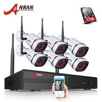 ANRAN Plug Play P2P 1080P 6CH WIFI NVR Kit Outdoor 36 IR Night Video 6PCS 2