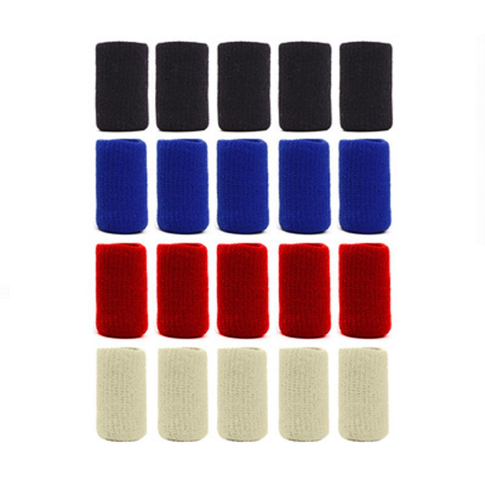 10 Pcs/pack Nylon Mini Practical Comfortable Stretch Protect Finger Sleeve Breathable Basketball Bandage Support Sports Safety