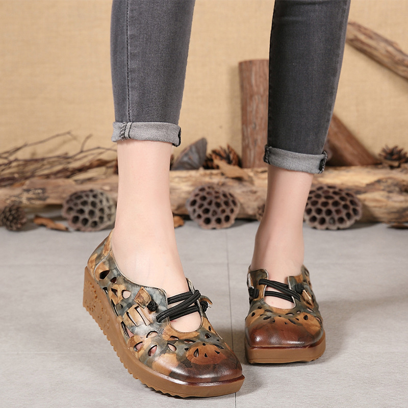 Women Leather Flats Round Toe Casual 2019 Spring Shoes Ladies Simple Flats Handmade Genuine Leather Women Lazy Shoes ComfortableWomen Leather Flats Round Toe Casual 2019 Spring Shoes Ladies Simple Flats Handmade Genuine Leather Women Lazy Shoes Comfortable
