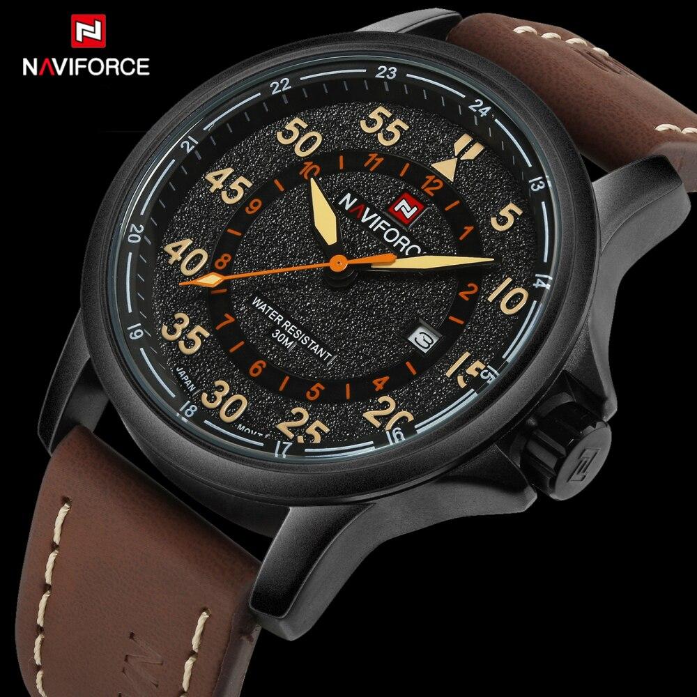 Prix pour 2016 Nouvelle Marque De Luxe Mode Hommes Sport Montres Hommes de Quartz Horloge Homme PU Bracelet En Cuir Armée Militaire Bracelet Étanche montre