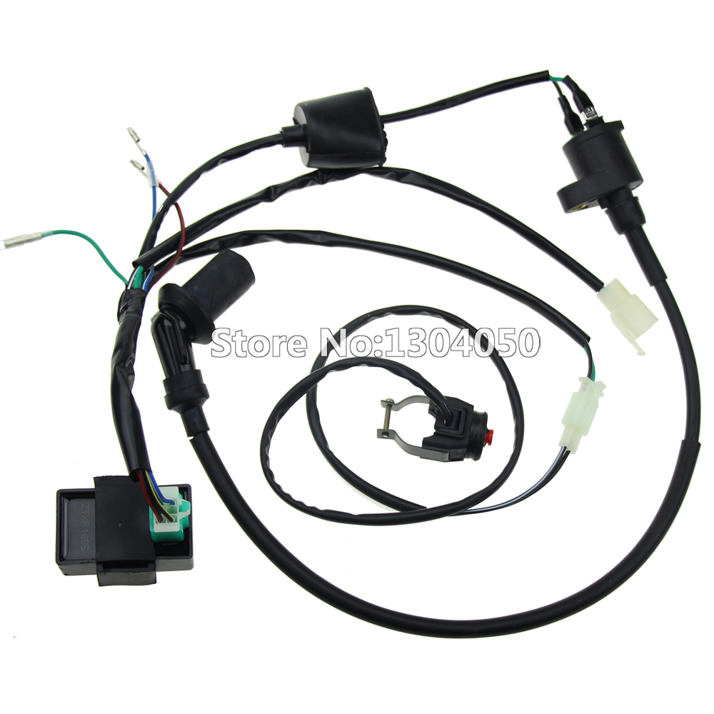 Complete Kick Start Engine Wiring Harness Loom Cdi Coil Kill Switch Drawing For 125cc 140cc 150cc Pitpro Dirt Bike In Motorbike Ingition From Automobiles