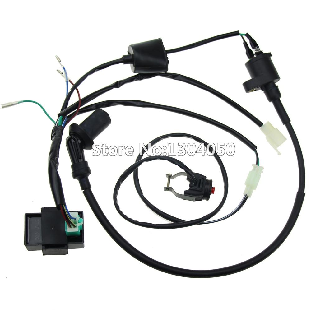 Plete kick start engine wiring harness loom cdi coil kill switch plete kick start engine wiring