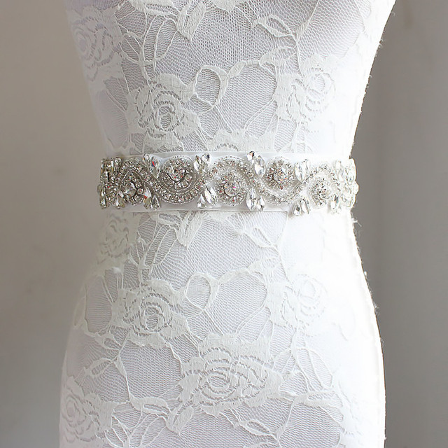 Crystal Rhinestone Wedding Belt Sash Cummerbunds Handmade Prom Evening Gown Sash Waistband Girdle Pure White Ivory Red Black