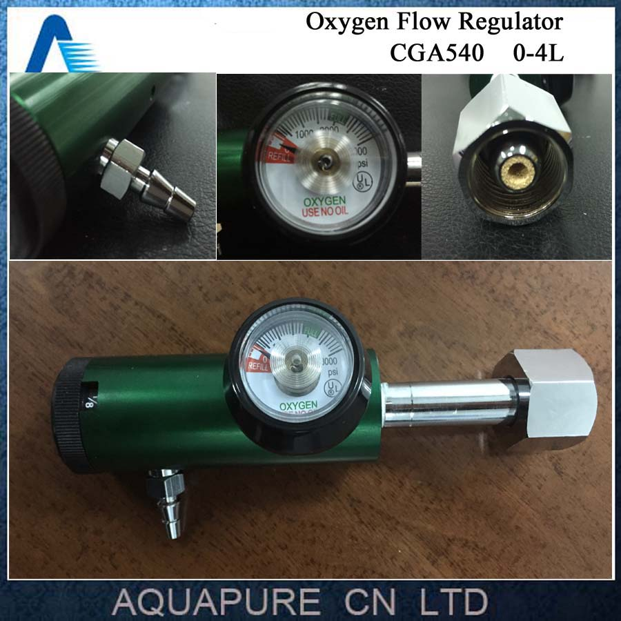 US $39 0 |High Quality 0 4 LPM Pediatric Oxygen Tank Regulator CGA540 Type  MINI Flow Regulator for Industrial O2 Cylinder-in Air Purifier Parts from