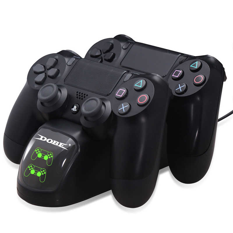 Game Controller Charger Dock Dual USB Gamepad Charger Docking Station Desktop Charger For PS4/PS4 Slim/PS4 Pro Controller