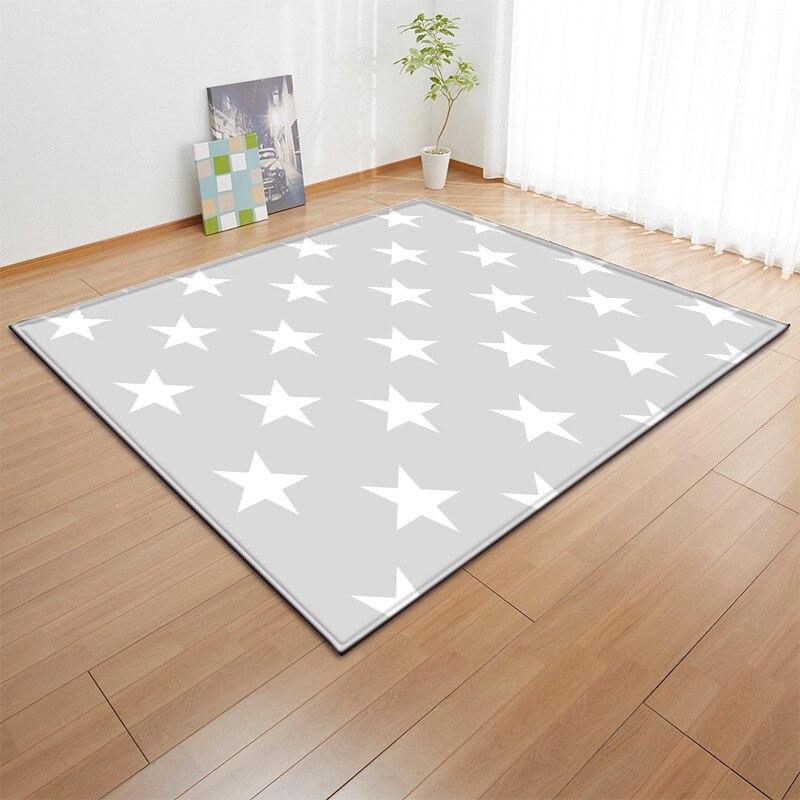 Enfants gris étoiles tapis nordique bébé zone tapis chambre salon canapé enfants tapis doux salon salle à manger tapete personnalisé