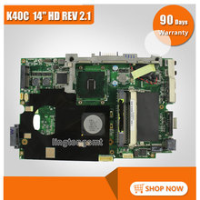 For ASUS K40C K50C Laptop Motherboard 14″ HD REV 2.1 USB2.0 DDR2 VRAM SiS 672+968 Mainboard Tested Well and Fully Working