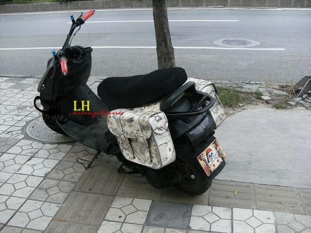 Las Scooter Motorcycle Modification Heroic Princess Korea Eagle Lingying Side Bag