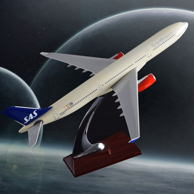 32cm Resin Scandinavian Airlines Model Airbus A330 Aircraft Model SAS Northern Europe Airplane Airways Aviation Plane Model Gift aeroclassics a330 200 vh eba 1 400 jetstar commercial jetliners plane model hobby