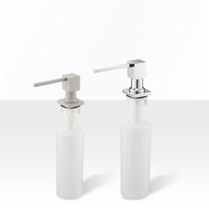 Image 2 - Диспенсер для кухонного мыла, квадратный дозатор для мыла, хромированный дозатор для кухни, встроенный диспенсер 2306