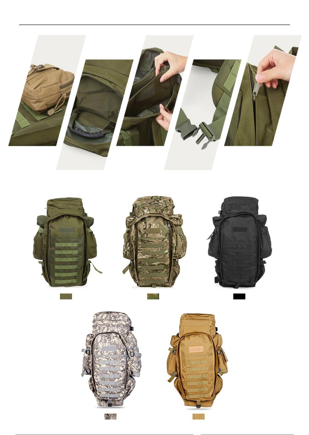 60L Outdoor Backpack Pack Rucksack for Hunting Shooting Camping Trekking Hiking Traveling Backpacks Waterproof Bags (20)