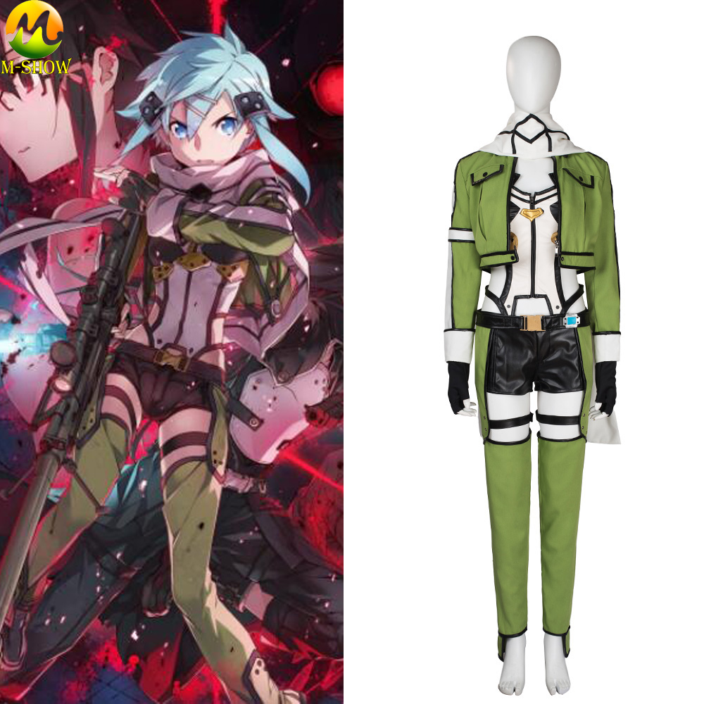 Anime Sword Art Online Asada Shino Cosplay Costume Halloween Costumes For Adult Women GGO Cosplay Outfit Custom Made