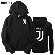 RUMEIAI 2017 Brand New Fashion Juventus print Sportswear Men Hoodies Pullover Hip Hop Fleece Mens tracksuit Sweatshirts Clothing