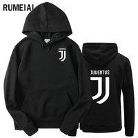 RUMEIAI 2017 Brand New Fashion Juventus Print Sportswear Men Hoodies Pullover Hip Hop Fleece Mens Tracksuit