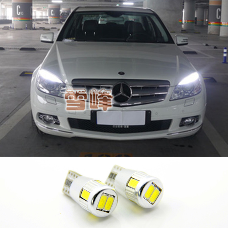 2x T10 White Led Error Free Eyebrow Eyelid Light Bulb For