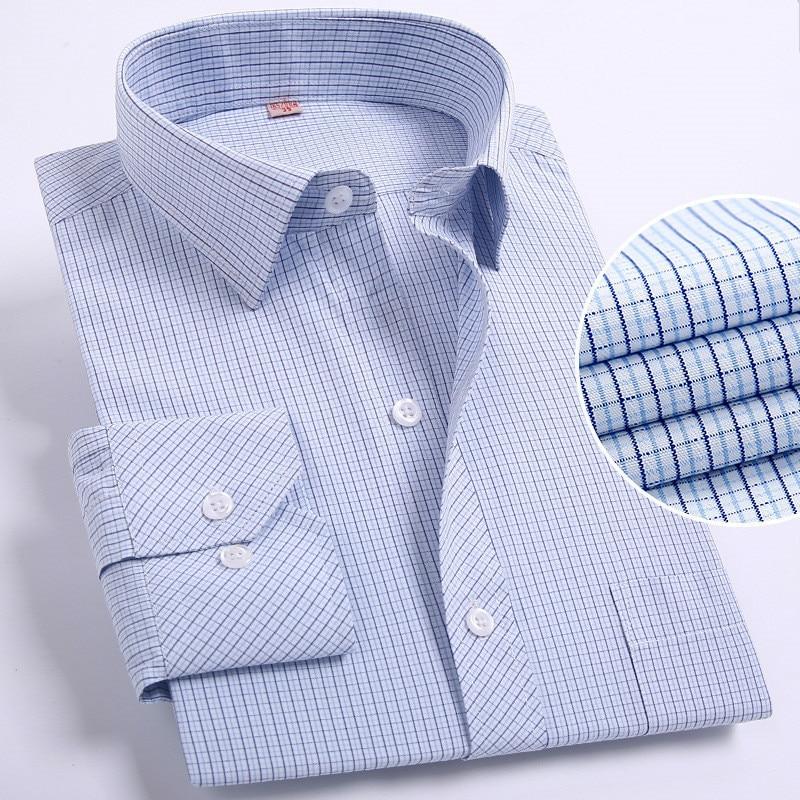 Camisas informales de talla grande para hombre, camisa de hombre 5XL 6XL 7XL 8XL, ropa ajustada de manga larga, camisa a rayas, camisa masculina