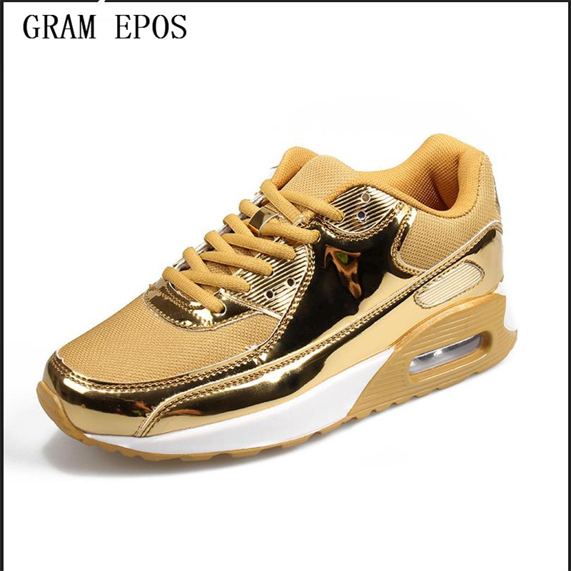 2017 Men Casual Shoes Breathable Mesh Comfortable Lace Up height incresing elevator Cushion Zapatillas Basket Hombre Gold Black