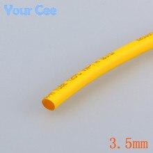 1 метр 3.5 мм 2:1 Термоусадочные Трубки Термоусадочная Трубка Термоусадочная Трубка Желтый Изоляции Упаковка Кабель Провод