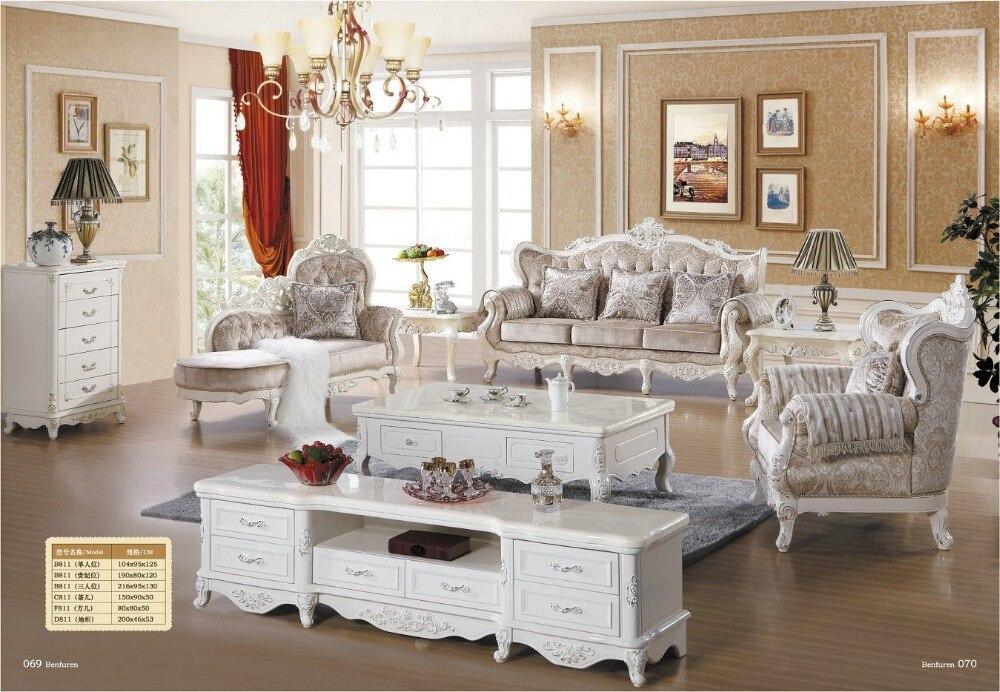 Sofa Seksionale Chaise Sofa e drejtpërdrejtë Fabrika Ofertë Speciale Stili Evropian Antik Jo Në Shitje të Lartë Lloje Euro Mobilje Classic Klasike