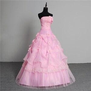 Image 3 - 3 צבע פרחים חדש 2020 קוריאני סגנון מתוק Stapless נסיכת חתונה שמלה בתוספת גודל ורוד רטרו לוטוס כלה שמלת Vestidos דה