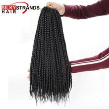 Silky Strands Micro Box Braids Crochet Hair Extensions Ombre Fiber Synthetic Braiding Hair Bulk Crochet Braids