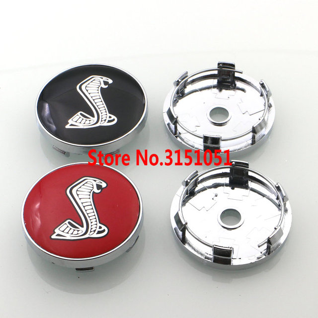 Dhl 200pcs Black Red 60mm Mustang Cobra Shelby Logo Car Wheel Center