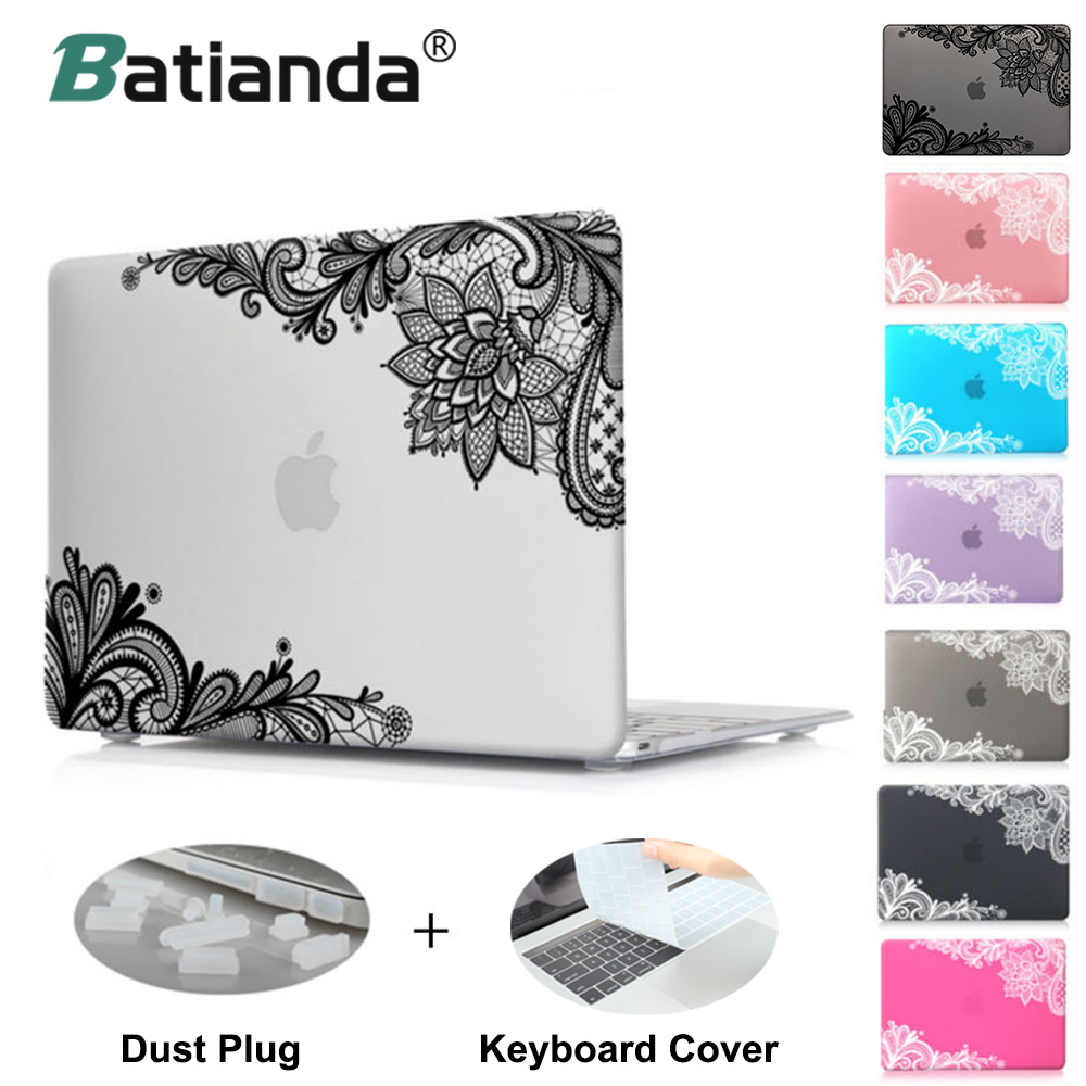 все цены на Fashion Lace Pattern Matte Cover Case Sleeve for Apple MacBook Pro 13 15 Retina 12 New Mac book Air 13 11 A1502 Special gift