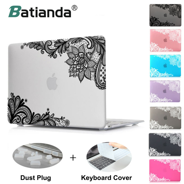 Fashion Lace Pattern Matte Cover Case Sleeve for Apple MacBook Pro 13 15 Retina 12 New Mac book Air 13 11 A1502 Special gift