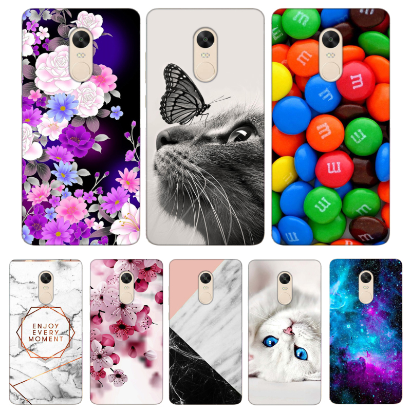 TPU Case For Xiaomi Redmi Note 4 Global Version Cases Note 4X 32 GB Cases Cover Back Patterned Case For Xiomi Redmi Note 4X