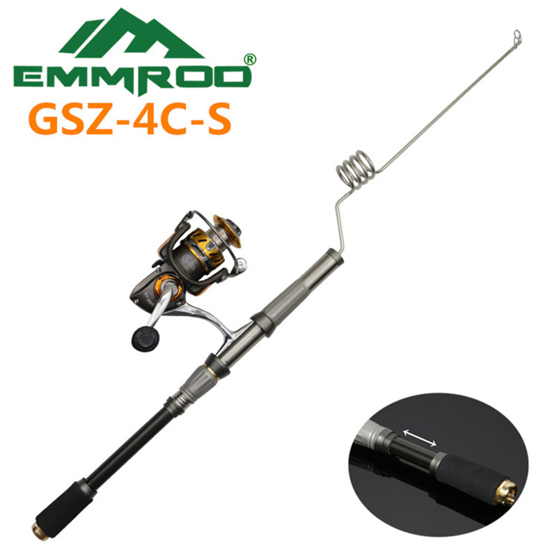 The New 2016 EMMROD elastic Fishing Combo stainless Steel Rod road And Boat Fishing Rafts Fishing Rocky GSZ-4C-S