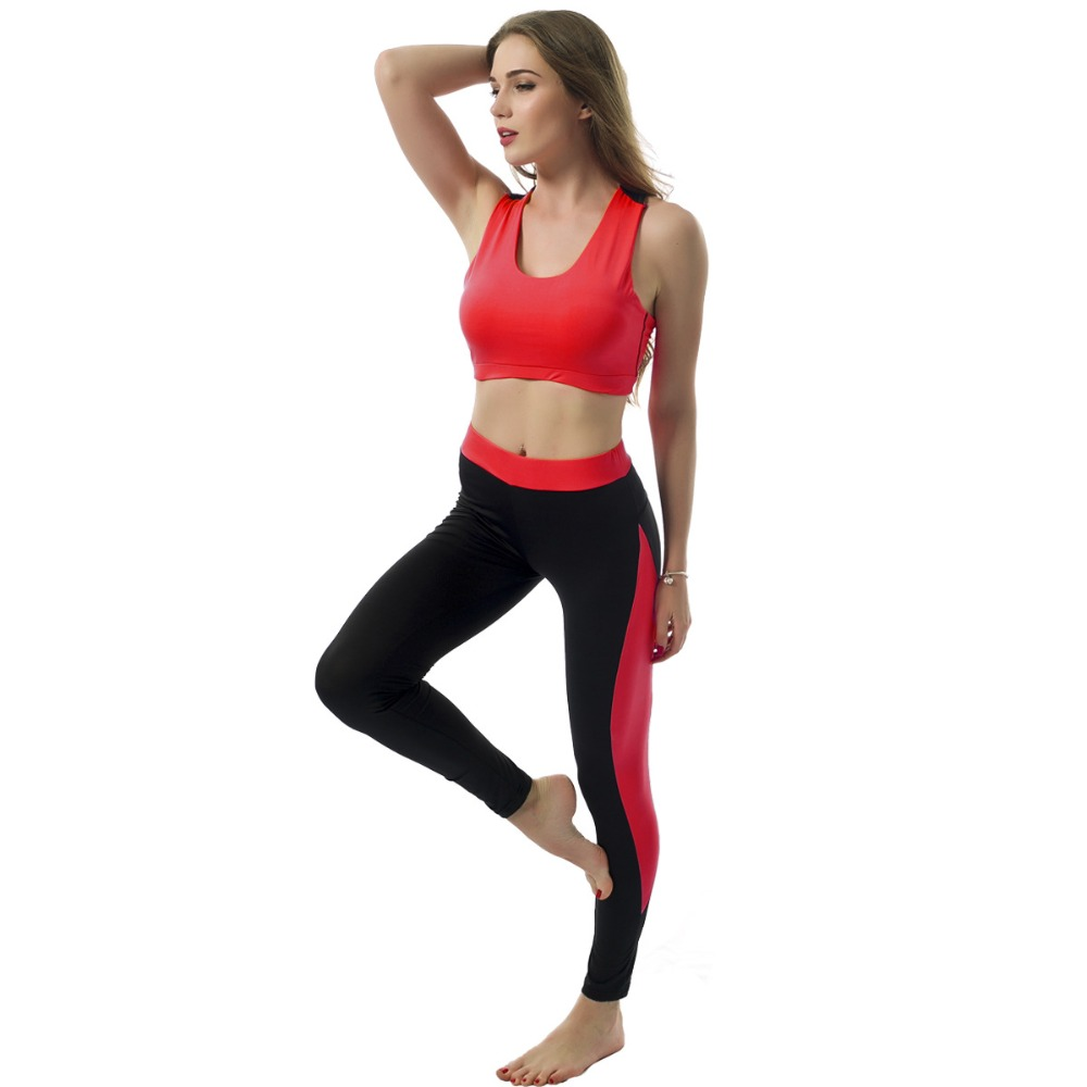 Openback 2 Piece Gym Sets Long Sleeve Pad Crop Top Skinny Sport Leggings Fitness Clothing Sports Wear For Women Gym Yoga Suits Home