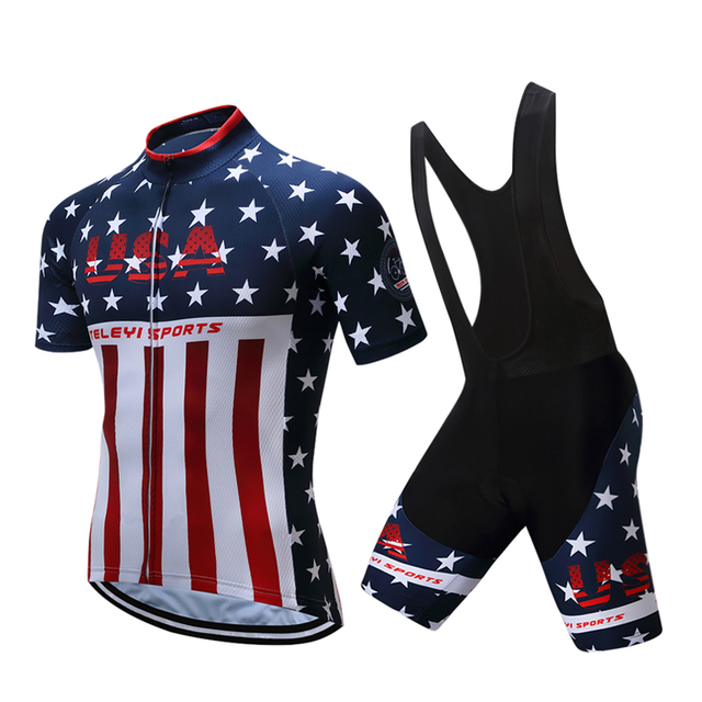 Pro Team Summer Short Sleeve Mountain Bike Clothes Tour De France Cycling  Jersey USA Bicycle Clothing dee2d1750