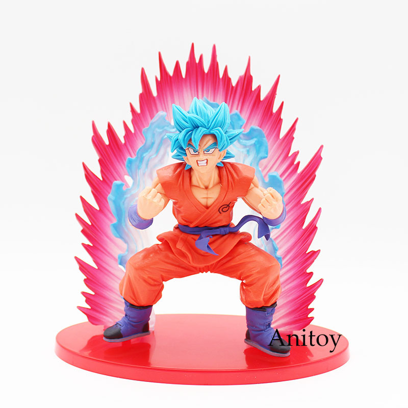 Dragon Ball Z Super Saiyan Blue Son Goku Action Figure Kaiouken Goku Doll PVC Action Figure Collectible Model Toy 17cm KT3591 anime dragon ball z son goku action figure super saiyan god blue hair goku 25cm dragonball collectible model toy doll figuras