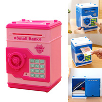 Behokic Safety Mini Electronic Imitation ATM Password Piggy Bank Cash Coin Can Money Bank Kids Gift