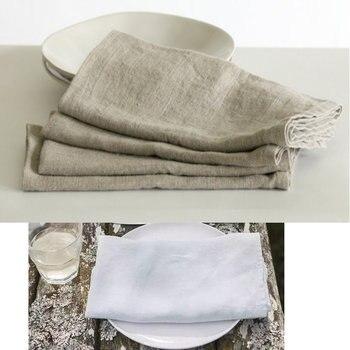 2pcs /lot 100%Pure Linen Cloth Table Napkins Home Vintage Flax Napkin Tea Towels Coffee Towel Table Decoration