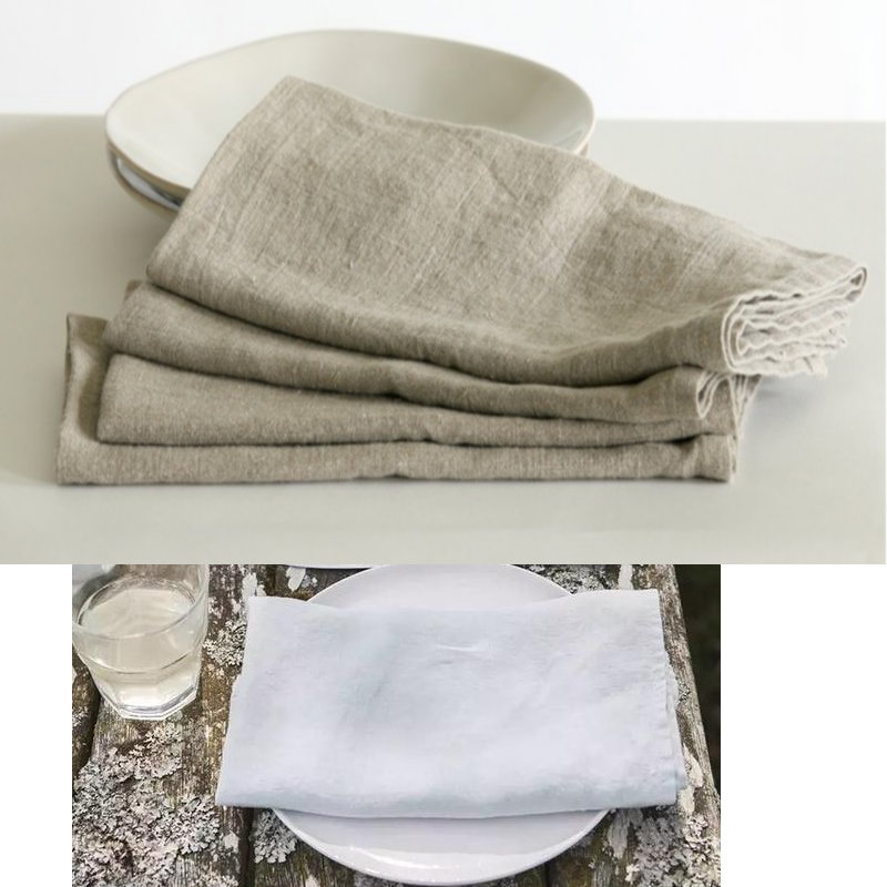 2pcs /lot 100%Pure Linen Cloth Table Napkins Home Vintage Flax Napkin Tea Towels Coffee  ...