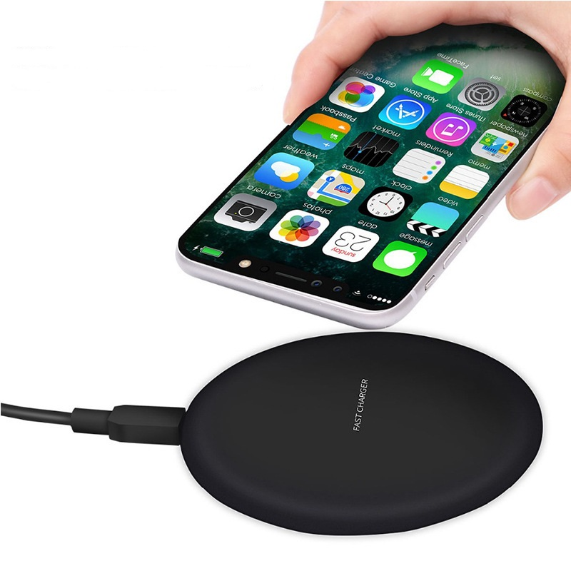 Image 2 - DASENLON Wireless Charger, Qi Fast Charging Wireless Pad for All Wireless Charging Enabled Phones-in Mobile Phone Chargers from Cellphones & Telecommunications