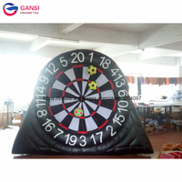Outdoor inflatable soccer game dartboard surround with stick ball,hot sale 3m height inflatable dart board for sale