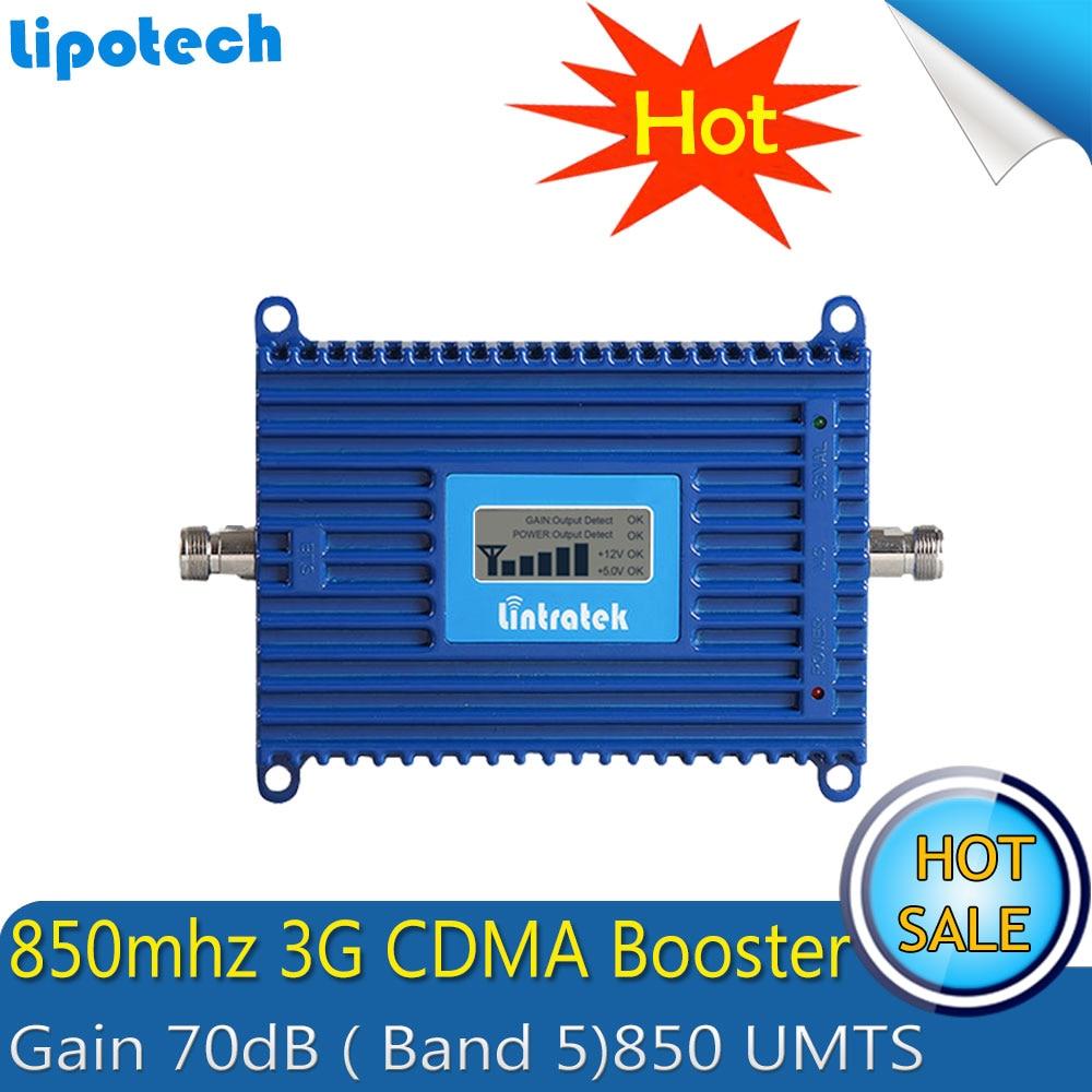 Amplificator de semnal Lintratek CDMA LTE Band 5 (850 CDMA) Repetitor de semnal GSM CDMA 850MHz Booster semnal mobil cu afișaj LCD