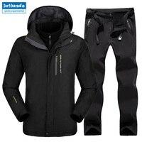 Плюс Размеры Mountain Лыжный Спорт Лыжная одежда Водонепроницаемый Пеший Туризм куртка сноуборд куртка лыжный костюм Для женщин большой Разме