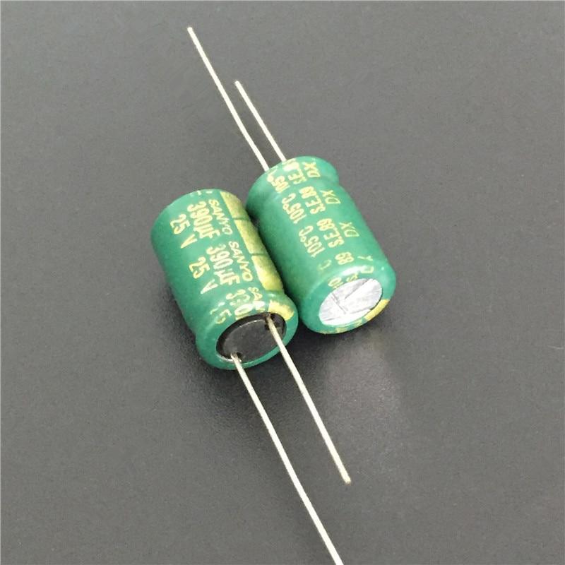 10pcs 390uF 25V Sanyo DX Series 10x16mm 25V390uF Low Impedance Electrolytic Capacitor