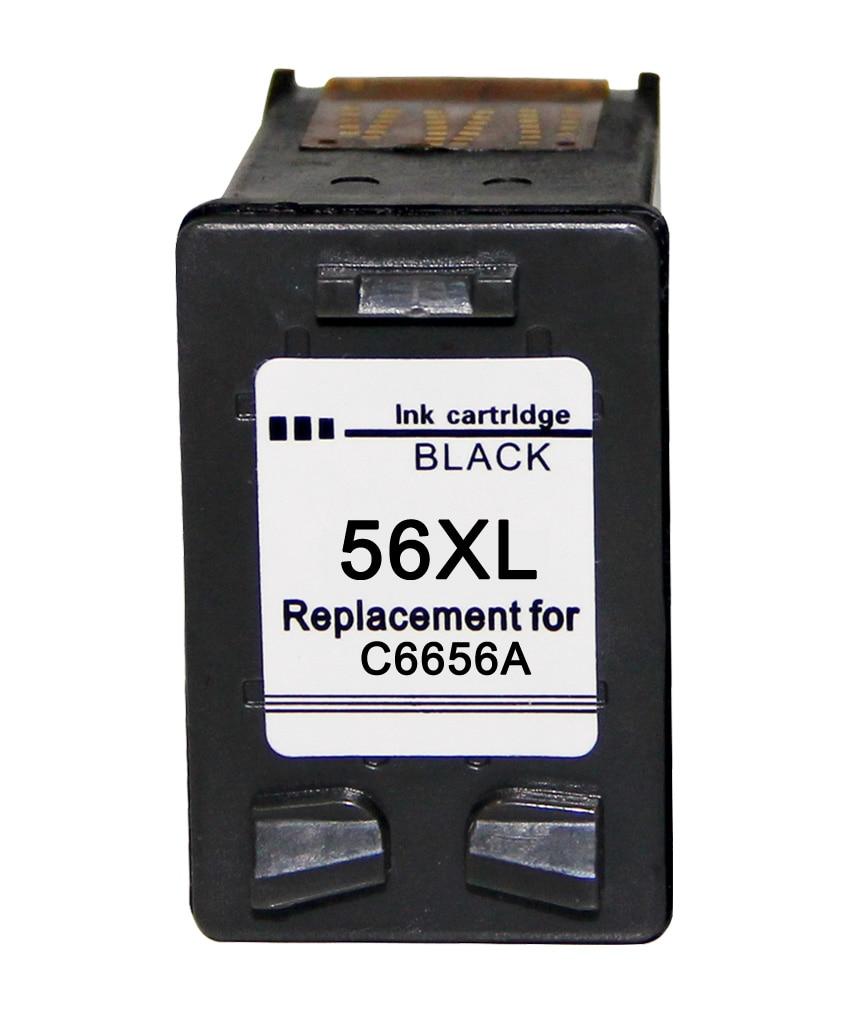 Ветеран 56 57 xl чернильный картридж replacementfor hp 56 C6656a для hp Deskjet F4180 5150 450CI 5550 5650 9650 PSC 1315 2110 2210 - Цвет: 56BK