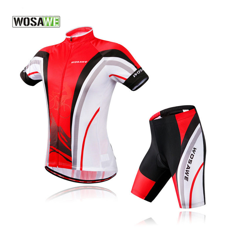 WOSAWE Brand Men Cool Bike Clothing Shorts Suit Breathabel Duick Dry Clothes Pro Road MTB Bicycle Jersey Cycling Jerseys Sets