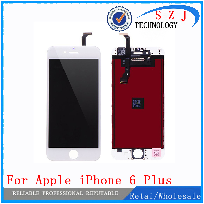 New 5.5 inch case For iPhone 6 Plus LCD Display Screen Touch Digitizer Assembly Replacement Free shipping high quality silver for htc one m7 lcd display touch digitizer screen frame back door battery cover case housing