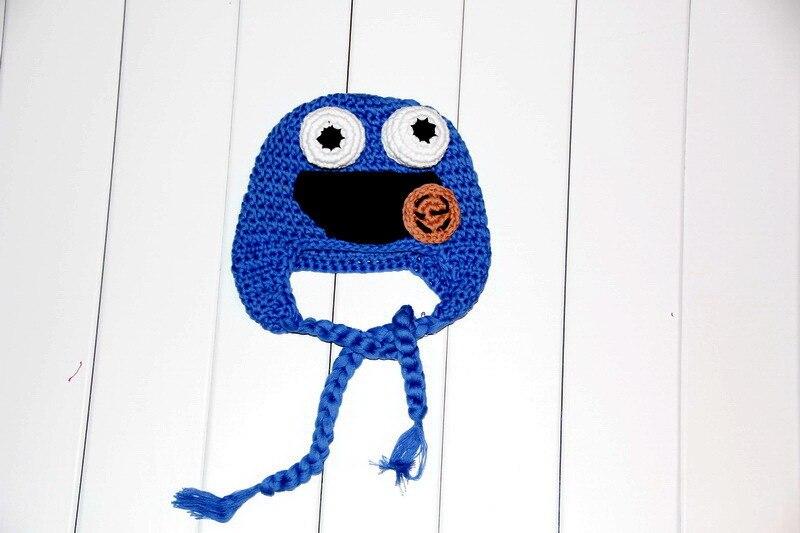 Envío libre, halloween Sesame Street monstruo sombrero, ganchillo ...