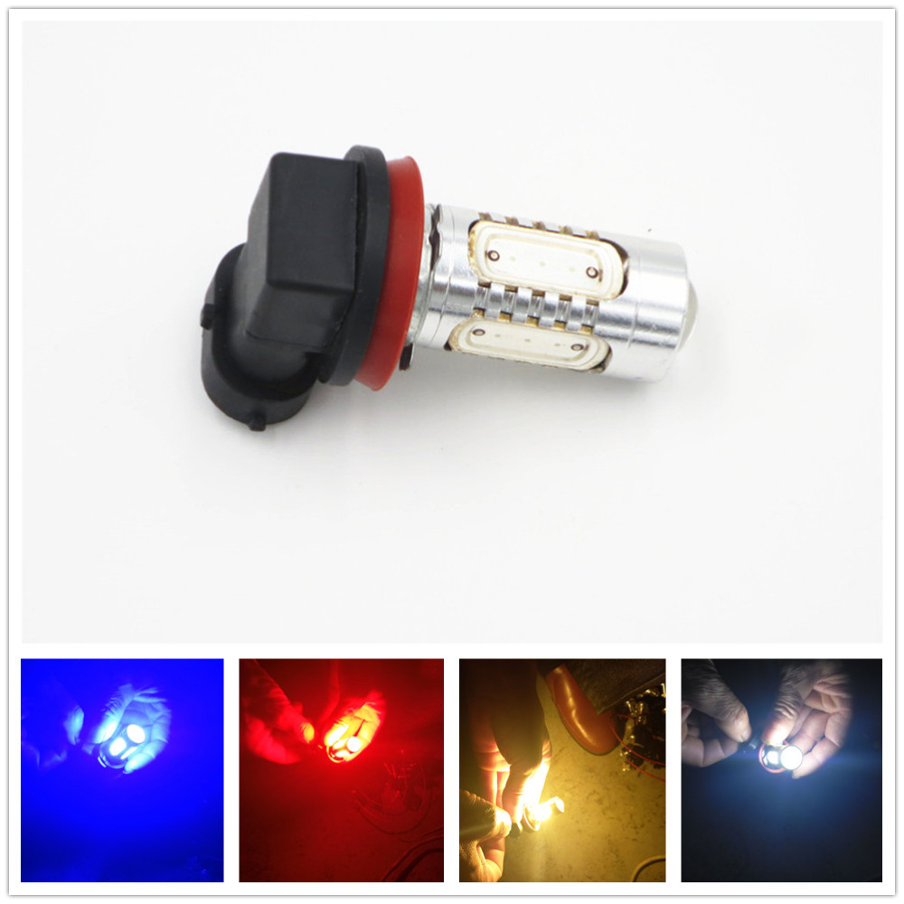 2pcs SUPER Bright Pink H11//H8 LED Bulbs for Fog Lights 7.5W COB Fog Lamp Driving DRL Lights 12V