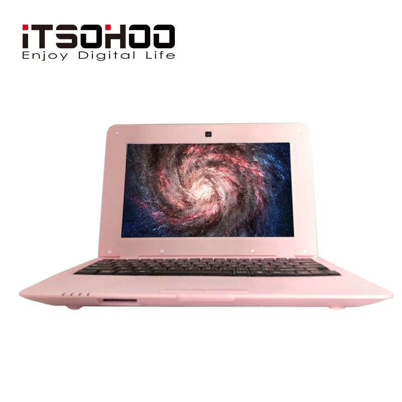 Bas prix 10 pouces pas cher enfants bras Netbook Android ordinateur portable avec rose argent couleur iTSOHOO ordinateur portable 1 GB RAM 8 GB ROM