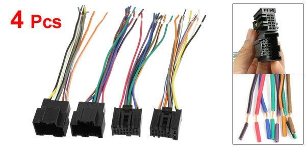 4 pcs auto car dvd gps connector wire harness for chevrolet captiva rh aliexpress com Automotive Wiring Harness Truck Wiring Harness